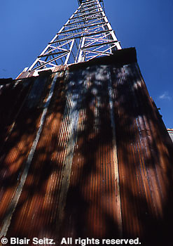 Drake Well Museum. '85 Standard oil derrick that could drill to 2000 feet. Titusville, Venago Co., PA.