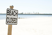 The beach was closed in Alabama. Missoula Photographer