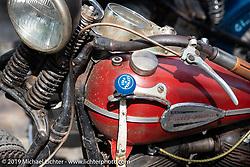Grimey Rod Davis' 1946 Harley-Davidson Knucklehead at Warren Lane's True Grit Antique Gathering bike show at the Broken Spoke Saloon in Ormond Beach during Daytona Beach Bike Week, FL. USA. Sunday, March 10, 2019. Photography ©2019 Michael Lichter.