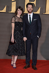 Lizzy Caplan and Tom Riley attending the UK premiere of Allied, held at the Odeon Cinema in Leicester Square, London.