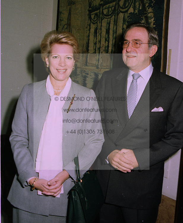 EX KING CONSTANTINE and QUEEN ANNE-MARIE OF GREECE at a reception in London on 13th October 1997.MCA 19