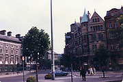 Old amateur photos of Dublin streets churches, cars, lanes, roads, shops schools, hospitals Bank Of Ireland College Green Trinity College, South Quays Townnend street July 1986 July 1986 July 1986