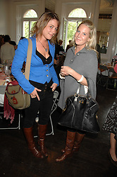 Left to right, VANESSA GARWOOD and ALICE DAWSON at a lunch in aid of African Solutions To African Problems held at Il Bottaccio, 9 Grosvenor Place, London on 20th May 2008.<br />