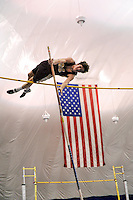 The NJSIAA North Jersey, Section 2 Groups 1 and 2 Track and Field Championships were held at The Bennett Center in Toms River. Abe Gertler of Madison is pictured in the Group 1 pole vault event. / Photo by Russ DeSantis Photography and Video, LLC