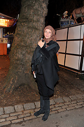 UMA THURMAN at the opening of the 2012 Winter Wonderland, Hyde Park on 22nd November 2012.