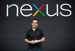 Hugo Barra, product management director of Android,  introduces the Nexus 7 tablet  at the annual Google I/O developers conference in San Francisco, California.