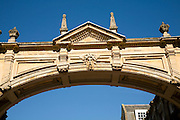 Stone arch against blue sky, Bath