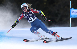 27.01.2018, Lenzerheide, SUI, FIS Weltcup Ski Alpin, Lenzerheide, Riesenslalom, Damen, im Bild Nina O Brien (USA) // Nina O Brien of the USA in action during the ladie's Giant Slalom of FIS ski alpine world cup in Lenzerheide, Austria on 2018/01/27. EXPA Pictures © 2018, PhotoCredit: EXPA/ Sammy Minkoff<br /> <br /> *****ATTENTION - OUT of GER*****