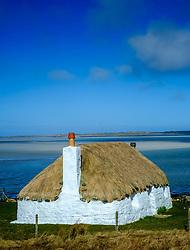 Traditional croft house, North Uist, Outer Hebrides, Scotland<br /> <br /> (c) Andrew Wilson | Edinburgh Elite media