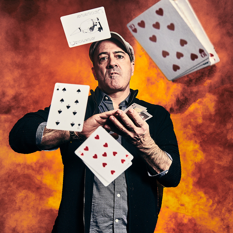 Matt Servitto photographed for Adult Swim's Celebrity Poker Tournament