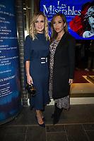 Amanda Holden, Myleene Klass  at the  Les Miserable Press Night as the show goes on tour. Sondheim Theatre,  Shaftesbury Avenue, London.