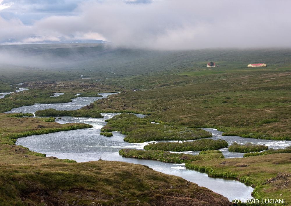 The Adaldalur Valley and its river, Laxá í Aðaldal, is very famous for fishing. Highly appreciated by the fishermen, the salmon river is also known to be one of the world's finest river for brown trout fishing.