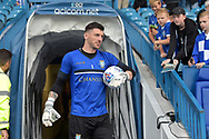 Sheffield Wednesday goalkeeper Keiren Westwood (1)     during the EFL Sky Bet Championship match between Sheffield Wednesday and Sheffield Utd at Hillsborough, Sheffield, England on 24 September 2017. Photo by Adam Rivers.