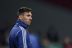 March 22, 2019 - Madrid, Madrid, Spain - Lionel Messi (Barcelona) of Argentina during the warm-up before the international friendly match between Argentina and Venezuela at Wanda Metropolitano Stadium in Madrid, Spain on March 22 2019. (Credit Image: © Jose Breton/NurPhoto via ZUMA Press)