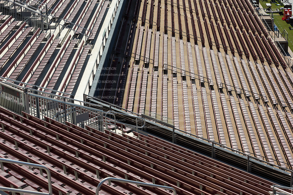 PALO ALTO, CA - OCTOBER 2:  A general view of empty seats at  Stanford Stadium before the gates have opened for an NCAA Pac-12 college football game between the Stanford Cardinal and the Oregon Ducks on October 2, 2021 at Stanford Stadium in Palo Alto, California.  (Photo by David Madison/Getty Images)