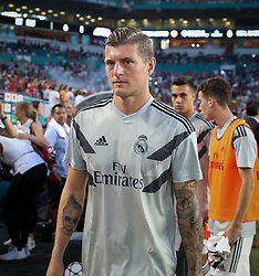 July 31, 2018 - Miami Gardens, Florida, USA - Real Madrid C.F. midfielder Toni Kroos (8) enters the field at the start of an International Champions Cup match between Real Madrid C.F. and Manchester United F.C. at the Hard Rock Stadium in Miami Gardens, Florida. Manchester United F.C. won the game 2-1. (Credit Image: © Mario Houben via ZUMA Wire)