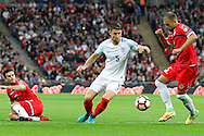 England Defender Gary Cahill pressures the defence during the FIFA World Cup Qualifier match between England and Malta at Wembley Stadium, London, England on 8 October 2016. Photo by Andy Walter.