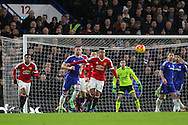 Jesse Lingard of Manchester United controls the ball during the Barclays Premier League match between Chelsea and Manchester United at Stamford Bridge, London, England on 7 February 2016. Photo by Phil Duncan.