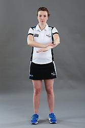 Umpire Louise Travis signalling contact