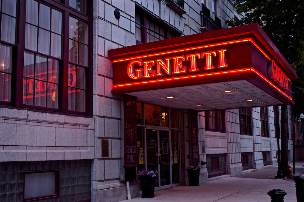 Northcentral Pennsylvania, restored Genetti Hotel, Williamsport, PA