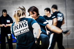 A blurred action image, as Franklyn Hartkamp takes the Institute Of Krav Maga Scotland grading today at Stirling.<br /> ©Michael Schofield.