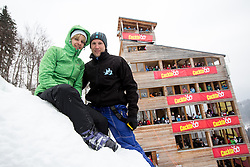Fans during the Flying Hill Individual Competition at 4th day of FIS Ski Jumping World Cup Finals Planica 2013, on March 24, 2013, in Planica, Slovenia. (Photo by Matic Klansek Velej / Sportida.com)