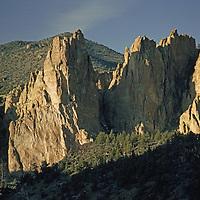 Smith Rocks, a popular rock climbing area north of Redmond.