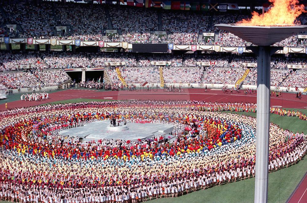 Seoul Summer Olympics opening ceremonies September 17, 1988 in Seoul, South Korea.