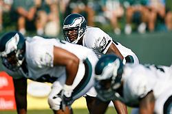 Philadelphia Eagles linebacker Akeem Jordan #56 during the Philadelphia Eagles NFL training camp in Bethlehem, Pennsylvania at Lehigh University on Saturday August 1st 2009. (Photo by Brian Garfinkel)