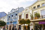 A facade of a building in Plovdiv, Bulgaria