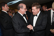 SALMAN RUSHDIE; JAMES CORDEN, 2012 GQ Men of the Year Awards,  Royal Opera House. Covent Garden, London.  3 September 2012