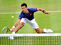 Novak Djokovic tests positive for Covid-19  Photos at the boodles challenge stoke park photo by Brian Jordan
