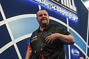 Ryan Joyce wins his match against James Wade and leaves the stage during the World Darts Championships 2018 at Alexandra Palace, London, United Kingdom on 28 December 2018.