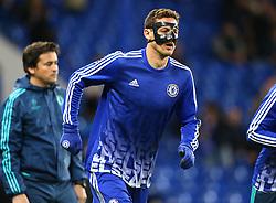 Nemanja Matic of Chelsea warms up ahead of the match - Mandatory byline: Paul Terry/JMP - 09/12/2015 - Football - Stamford Bridge - London, England - Chelsea v FC Porto - Champions League - Group G