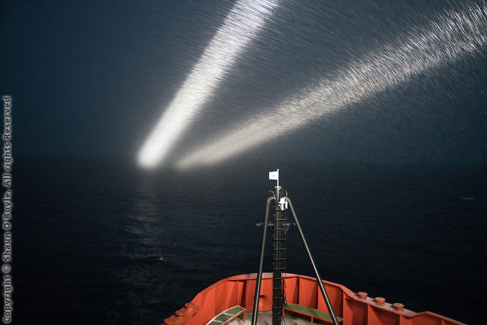 Night watch for icebergs