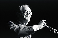 1976, St. Paul, Minnesota, USA --- Democratic Senator and former Vice President Hubert Humphrey delivers a speech at the St. Paul Civic Center. --- Image by © Owen Franken/CORBIS