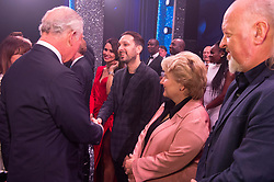 Embargoed to 0001 Tuesday November 13 The Prince of Wales meeting Dynamo after the We Are Most Amused and Amazed performance at the London Palladium.