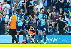 Goal, Matthew Bloomfield of Wycombe Wanderers scores, Wycombe Wanderers 1-0 Stevenage - Mandatory by-line: Jason Brown/JMP - 05/05/2018 - FOOTBALL - Adam's Park - High Wycombe, England - Wycombe Wanderers v Stevenage - Sky Bet League Two