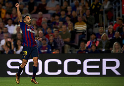 October 20, 2018 - Barcelona, Catalonia, Spain - Jordi Alba during the week 9 of La Liga match between FC Barcelona and Sevilla FC at Camp Nou Stadium in Barcelona, Spain on October 20, 2018. (Credit Image: © Jose Breton/NurPhoto via ZUMA Press)
