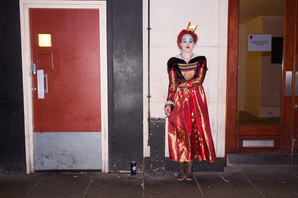 People celebrating, Halloween, Old Compton Street, London. Britain.