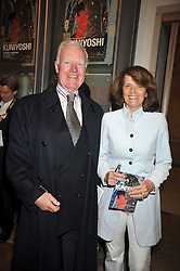 SIR JOCELYN STEVENS and his wife EMMA at a private view of the Kuniyoshi exhibition at the Royal Academy, Piccadilly, London on 17th March 2009.