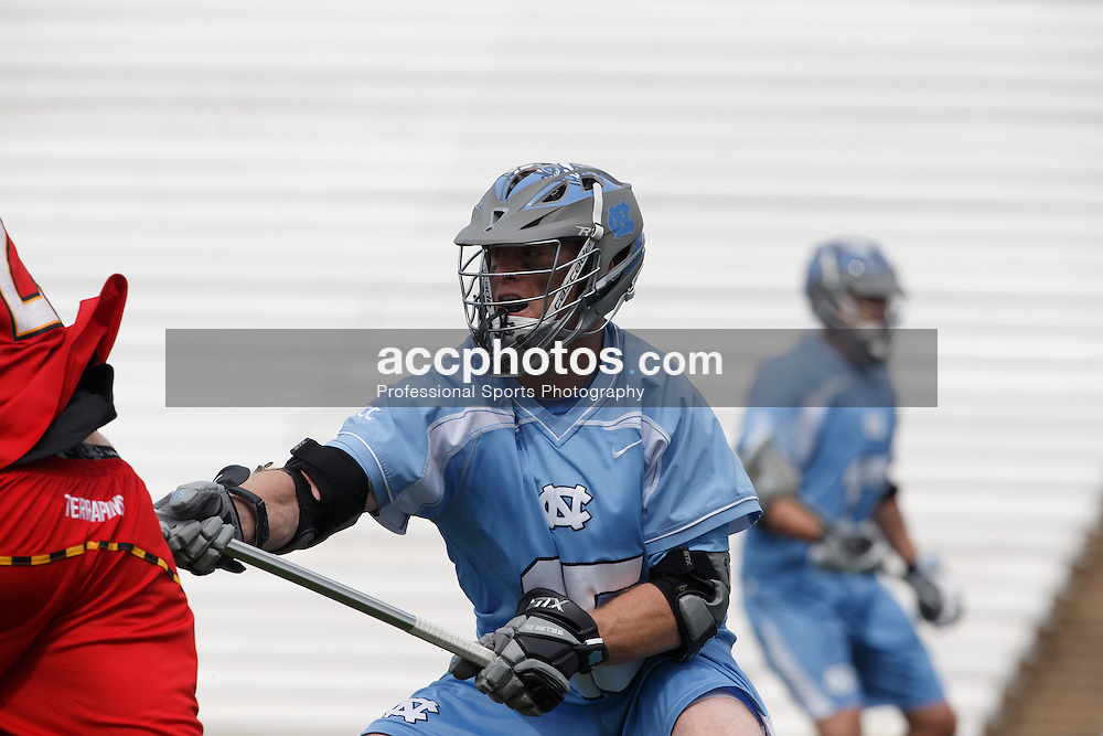 CHAPEL HILL, NC - MARCH 22: Ryan Kilpatrick #15 of the North Carolina Tar Heels during a game against the Maryland Terrapins on March 22, 2014 at Kenan Stadium in Chapel Hill, North Carolina. North Carolina won 11-8. (Photo by Peyton Williams/Inside Lacrosse)