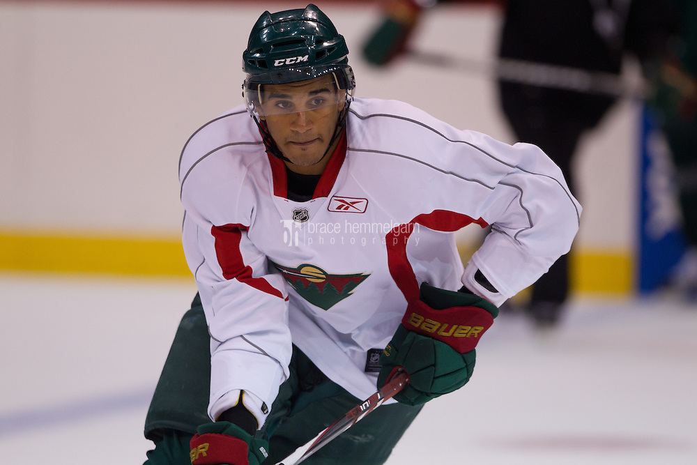 24 July 2012: Kyle Thomas (58) during the Minnesota Wild Development Camp at the Xcel Energy Center in St. Paul, Minnesota.