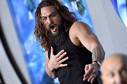"""Premiere of Warner Bros. Pictures' """"Aquaman"""". TCL Chinese Theatre, Hollywood, California. 12 Dec 2018 Pictured: Jason Momoa. Photo credit: AXELLE/BAUER-GRIFFIN / MEGA TheMegaAgency.com +1 888 505 6342"""