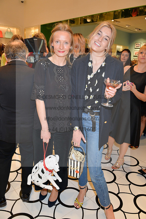Left to right, MARTHA WARD and CAMILLE CHARRIÈRE at the opening party of the new Kate Spade New York store at 182 Regent Street, London on 21st April 2016.