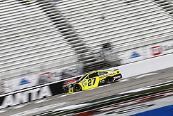 March 3, 2017 - Hampton, Georgia, United States of America - March 03, 2017 - Hampton, Georgia, USA: Paul Menard (27) takes to the track to practice for the Folds of Honor QuikTrip 500 at Atlanta Motor Speedway in Hampton, Georgia. (Credit Image: © Justin R. Noe Asp Inc/ASP via ZUMA Wire)
