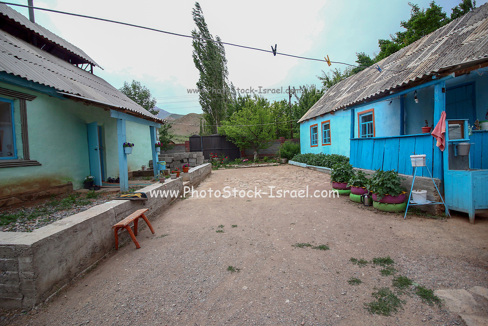 Kyzyl-Oi village (red village or red bowl), Kyrgyzstan