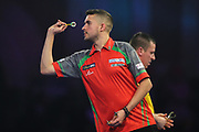 Jamie Lewis during his fourth round match with Dave Chisnall during the World Darts Championships 2018 at Alexandra Palace, London, United Kingdom on 28 December 2018.