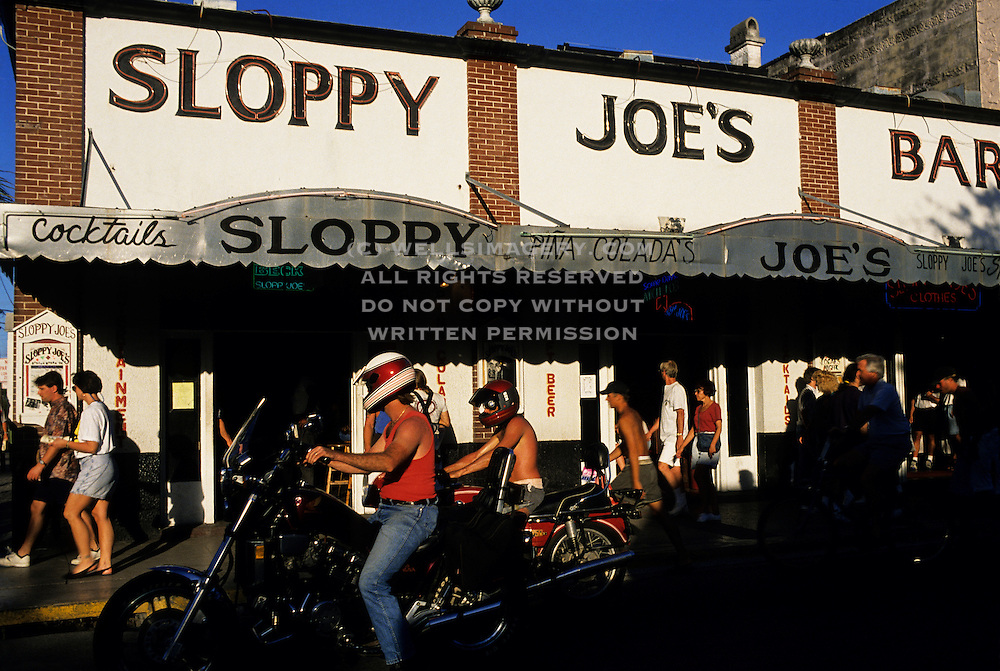 Image of Sloppy Joe's Restaurant in Key West, Florida, where Ernest Hemingway used to hang out, American Southeast by Andrea Wells