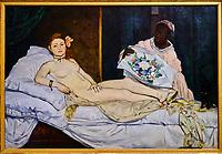 France, Paris (75), zone classée Patrimoine Mondial de l'UNESCO, Musée d'Orsay, Olympia, Edouard Manet // France, Paris, Orsay museum, Olympia, Edouard Manet